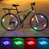 Lumina led spite bicicleta, multicolor, 3 moduri iluminare, impermeabil