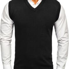 Pulover vestă neagră Bolf W01