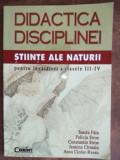 Didactica disciplinei Stiinte ale naturii pentru invatatori. clasele III-IV - Sanda Fatu, Felicia Stroe