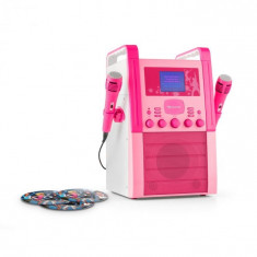 Auna KA8B-V2 BK sistem karaoke CD AUX 2x microfon incl. 3 x Karaoke CD + G