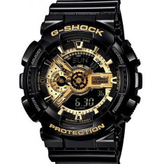 CEAS SPORT CASIO G-SHOCK GA-110 BLACK&GOLD-NOU-BACKLIGHT-MODEL 2019-POZE REALE !, Quartz, Plastic