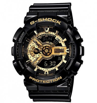CEAS SPORT CASIO G-SHOCK GA-110 BLACK&GOLD-NOU-BACKLIGHT-MODEL 2019-POZE REALE ! foto