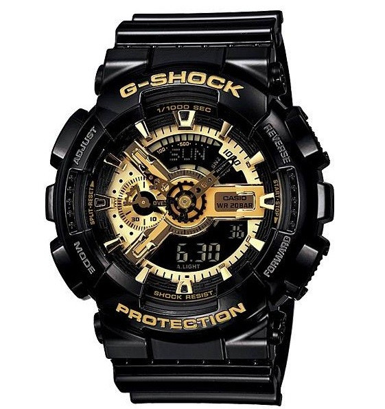 CEAS SPORT CASIO G-SHOCK GA-110 BLACK&GOLD-NOU-BACKLIGHT-MODEL 2019-POZE REALE !