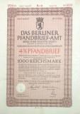 1000 Reichsmark titlu de stat Germania 1941