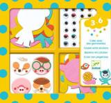 Set creativ colaje animale din fetru Djeco
