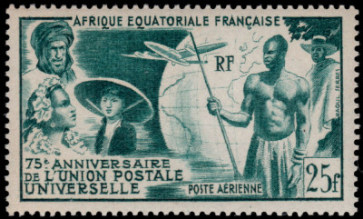French Equatorial Africa 1949 - UPU, neuzata foto