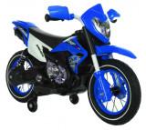 Motocicleta electrica cu roti gonflabile Super Moto Blue, Moni