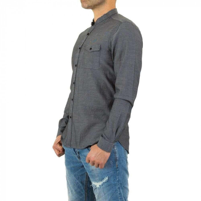 Camasa din bumbac, neagra, cu maneci lungi - Y.Two Jeans