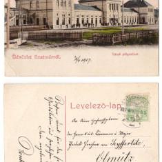 Satu Mare 1907 - Gara, ilustrata litho circulata