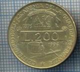 AX 1417 MONEDA-ITALIA-200 LIRE-ANUL1996 ACADEMIE GARDA FINANCIARA-STAREA SE VEDE, Europa