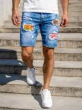Cumpara ieftin Pantaloni scurți de blugi bleumarin Bolf KG3872