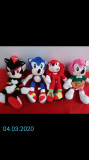 Sonic the Hedgehog si Tails, Shadow si Knuckles. 25-30 cm