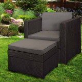 Set mobilier gradina maro Keter Provence Chillout