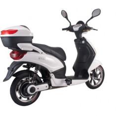 Bicicleta electrica, tip scuter, fara carnet si inmatriculare ZT-09-AL LI-ION ALB