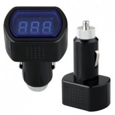 Tester Voltmetru cu afisaj LCD si mufa bricheta incorporata 12-24V