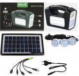 Cumpara ieftin Panou solar fotovoltaic iluminare 3 becuri lanterna incarcare telefon 3 lampi