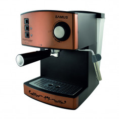Espressor cafea Samus Espressimo, 850 W, presiune 15 bari, rezervor 1600 ml, Bronze