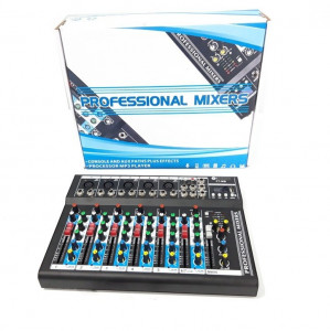 MIXER AUDIO PROFESIONAL 7 CANALE,AFISAJ LCD,STICK MP3,EGALIZATOR GRAFIC,HI FI.