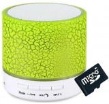 Boxa Portabila Bluetooth iUni DF09, Big Size, Radio, Aluminiu, Verde + Card 4GB Cadou