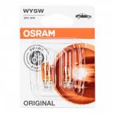 Becuri auto Osram WY5W, 12V, 5W, W2,1x9,5d, 2 bucati