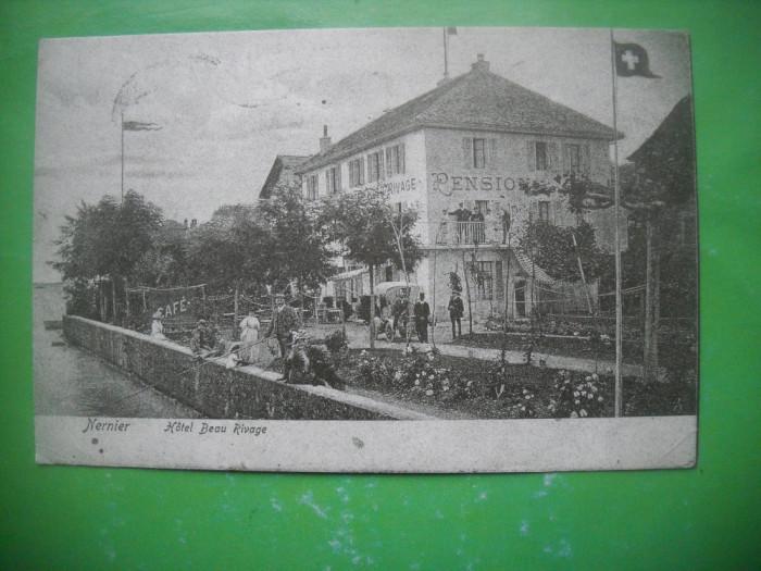 HOPCT 36982 NERNIER-HOTEL BEAU RIVAGE -SERIA FRANTA 1900-1905-NECIRCULATA