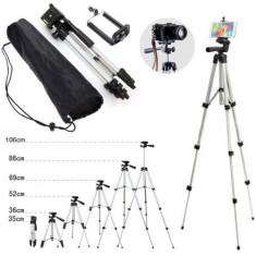Trepied pentru telefon mobil/ camera foto, portabil, 360 de grade, 105 cm, Gonga