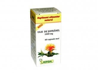 Ulei de sofranel 1000 mg 40 capsule moi - Hofigal