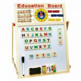 Tabla interactiva magnetica pentru copii, din lemn, 60x40 cm
