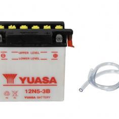 Yuasa baterie maxiscuter moto 12N5-3B 121x61x131 12V 5Ah 39A Kawasaki Suzuki
