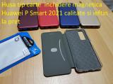 Husa tip carte  inchidere magnetica Huawei P Smart 2021  ieftin la pret, Alt model telefon Huawei, Negru, Piele Ecologica