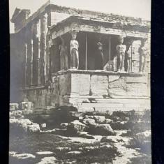ATENA - CARIATIDELE , CARTE POSTALA ILUSTRATA , MONOCROMA, CIRCULATA , DATATA PE VERSO 1922