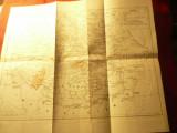Harta istorica -Tarile Romane mijl.sec.XIV-XVI , dim.=40x35cm