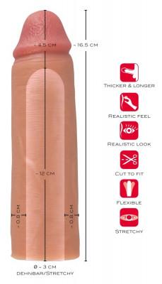 Prelungitor Penis Realistixxx 16,5 cm   Okazii.ro