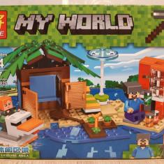 NOU/SIGILAT Set de 181 piese tip lego Minecraft My World LELE 33167-B