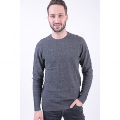Pulover Jack&Jones Jprdylan Knit Crew Neck Dark Grey Melange