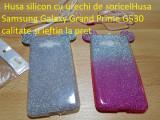 Husa silicon cu urechi de soricelHusa Samsung Grand Prime G530  calitate, Alt model telefon Samsung, Roz