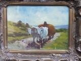 Constantin Paun - Car cu boi, Reproducere dupa Grigorescu