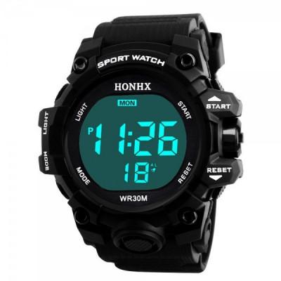 Ceas Barbatesc HONHX, curea silicon, digital watch foto