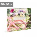 "Tablou LED - ""Bicicletă"" - 2 x AA, 30 x 30 cm"