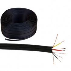 Rola cablu plat 4 x RCA, Negru