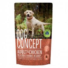 Dog Concept hrană umedă câini cu Pui 100 gr (4+1), Umeda