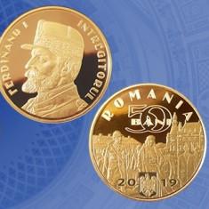 ROMANIA 50 BANI  2019  Regele Ferdinand UNC din Fisic BNR