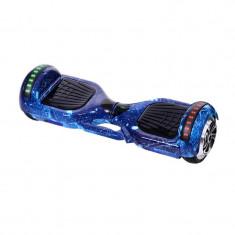 Hoverboard Bluetooth cu boxa Galaxy HR, LED, 20 km/h, suporta maxim 120 kg, Albastru