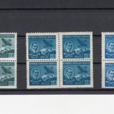 ROMANIA 1950  LP 269  AUREL  VLAICU  BLOCURI DE 4 TIMBRE   MNH