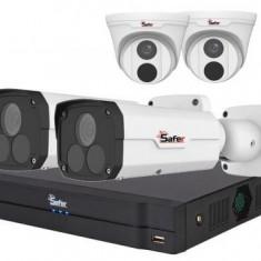 Kit supraveghere mixt IP 4 camere 4 Megapixeli IR pana la 60 metri SAF IPCDM4MP30 28 si SAF IPCBM4MP60 4
