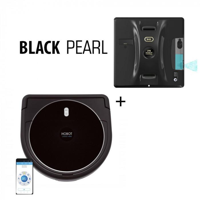 Set Black Pearl aspirator robot HOBOT LEGEE 688 si robot curatare geamuri HOBOT 298