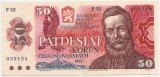 CEHOSLOVACIA 50 KORUN COROANE 1987 AUNC