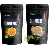 Turmeric (Curcuma) Pulbere Ecologica/Bio 125g + Ghimbir Pulbere Ecologica/Bio 60g