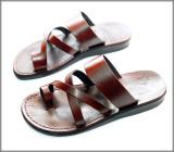 Sandale Hippie Piele Naturala cu Deget Maro