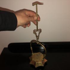 Lampas,lampa veche englezeasca,pentru mina,din bronz masiv